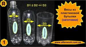Весы из пластиковых бутылок